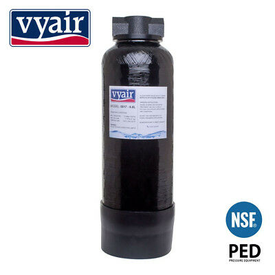 6.6 Litre DI Resin Vessel (EMPTY) + Hozelock Clunk-Click Fittings From Vyair