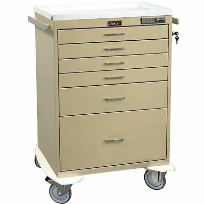 Harloff 7450E 6 Drawer Anesthesia Cart with Electronic Push-Button Lock
