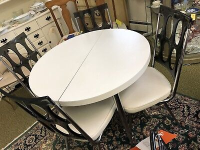 Chromcraft Table And Four Lucite Chairs