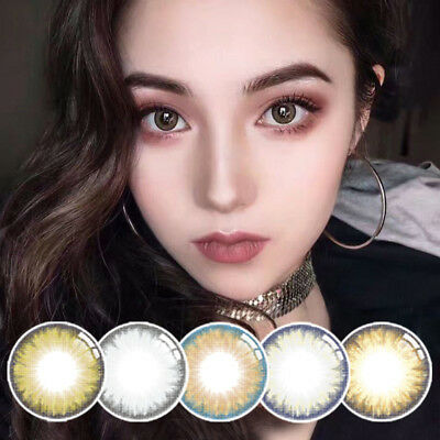 1 Pair Unisex Big Eye Makeup Colour Contact Lenses Beauty Cosmetic Tool Magia