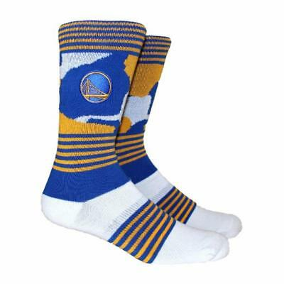 NEW Golden State Warriors Parkway PKWY Large Blue Camo Print Crew Socks  Curry e1cf92334