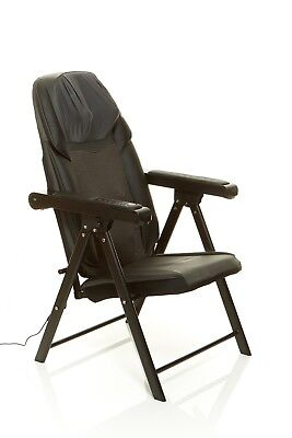 Sharper Image Foldable Massage Chair Shiatsu Back Massager Outlet