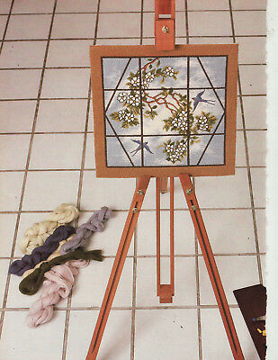 Tiffany Window Swallow Birds Beth Russell Needlework Tapestry Needlepoint Chart