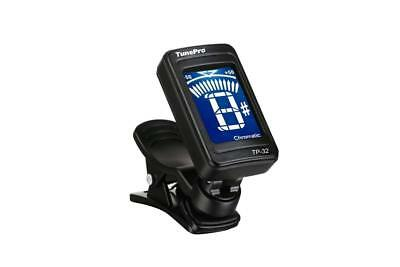 Tune Pro Clip on Digital LED Readout Guitar Tuner - Fully Chromatic (Tune any)