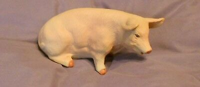 "Handmade Ceramic Pig  Knick Knack- Great Detail- About 5 "" Long X 3"" High"