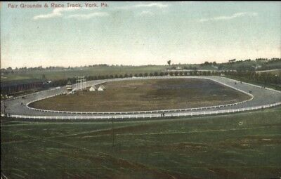 York PA Fair Grounds & Race Track c1910 Postcard