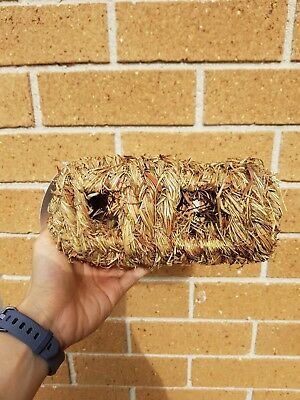 Natural Woven Grass Log for Small Animals (Rabbit, Rat, Guinea Pig, Rodent)