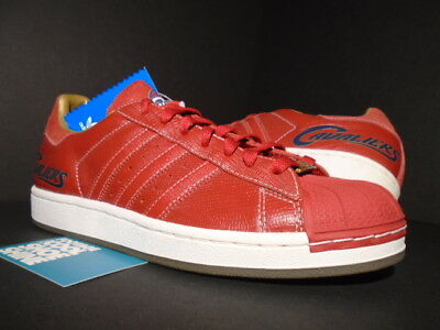 ADIDAS SUPERSTAR ALL Red Limited Edition London UK 6 boxed