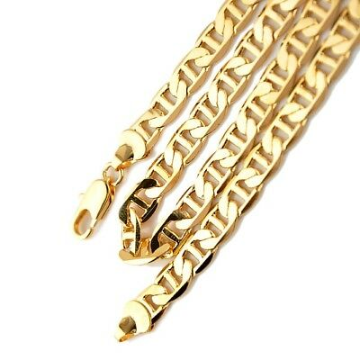 """Men's/Women's Necklace 18k Yellow Gold Filled 24""""Curb Chain 8MM Link Jewelry"""