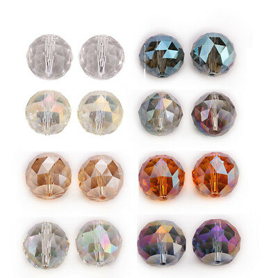 Hot 20mm 5PC Faceted Glass Crystal Round Loose Spacer Beads DIY Jewelry Design