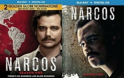 NARCOS TV SERIES COMPLETE SEASONS 1 & 2 New Sealed Blu-ray