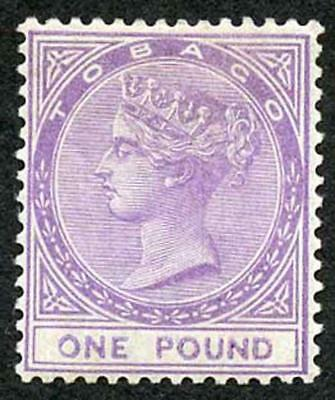TOBAGO 1879 SG6 One Pound Mauve Very Fresh Colour and Well Centred Fine M/Mint