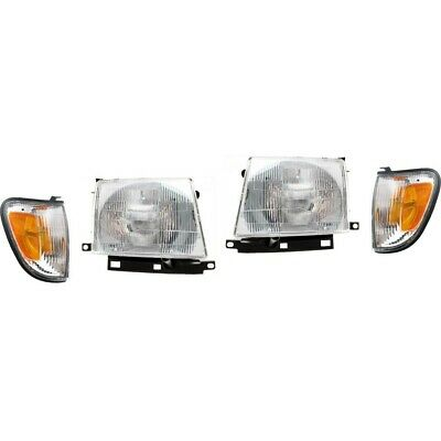 Headlight Kit For 1998-2000 Toyota Tacoma Left and Right 4pc