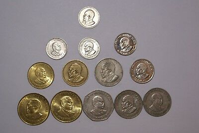 13 DIFFERENT COINS from KENYA (13 DIFFERENT TYPES/5 DENOMINATIONS)