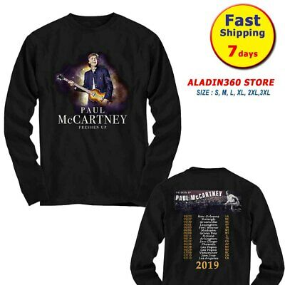 New Paul McCartney long Sleeve t Shirt  Freshen Up Tour 2019 size Men Black