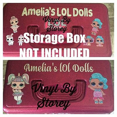 LOL surprise vinyl stickers storage box personalised any dolls decals you choose