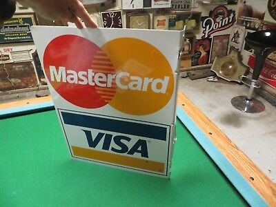 Master Card-Visa Card advertising store flange sign double sided