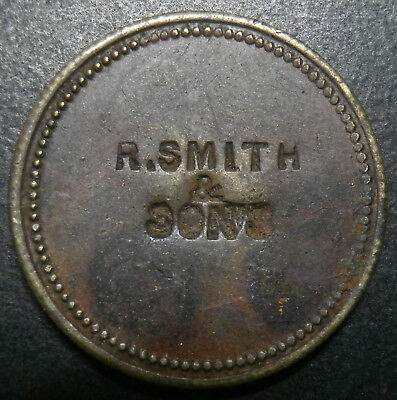 Countermarked - R. SMITH & SONS on uniface ? brass flan - counterstamp 23.9mm