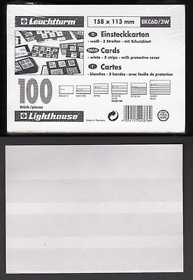 Lighthouse : stockcards : white : 3 Strip : pack of 100