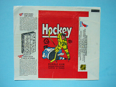 1975/76 O-Pee-Chee Nhl Hockey Card Wax Pack Wrapper Harold Snepsts Rookie Cl Opc