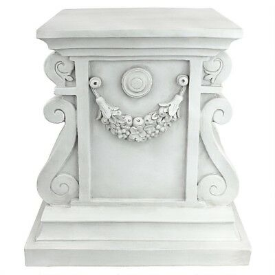 "Classic Statuary Plinth Design Toscano 15"" With Antique Stone Finish"