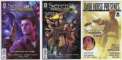 Lot of 3: Serenity No Power In The 'Verse #1 (2016) Variant Covers (Adam Hughes)