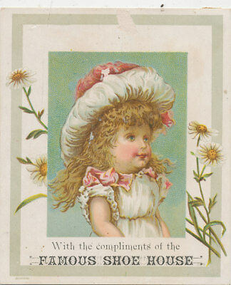 C8985 Victorian Trade Card  Famous Shoe House Boston