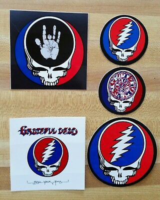 5 Pack Grateful Dead Stickers. Steal Your Face.