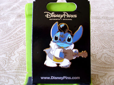 qDisney * STITCH as ELVIS with GUITAR * New on Card Character Trading Pin