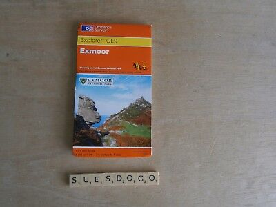 Os Ordnance Survey Explorer Map - Ol9 Exmoor & Part Of Exmoor National Park 2004
