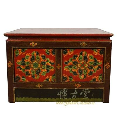 Antique Tibetan Painted Square Coffee Table 18LP81