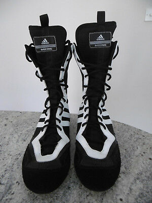 reputable site many styles cheap for discount ADIDAS TYGUN 2 Boxing Boots Blk/White Mens Uk Size 9-Nmint ...