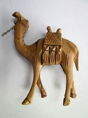 Vintage Wooden Camel Hand Carved Figured Perfect For Nativity
