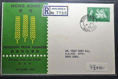 FDC of Hong Kong Yang's #C11 Registered mail to local VF.首日实寄,保存完整良好
