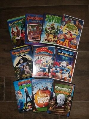 lot of 10 kids halloween dvds movies