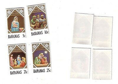 Bahamas - Scott# 416-419  - Christmas 1977 - Mint, NH