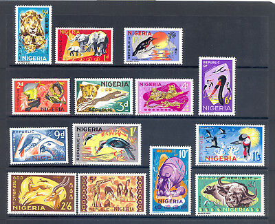 Nigeria Sg 172-85 1965 Animals Definitive Set. Mnh
