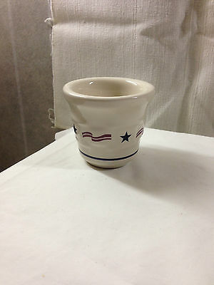 Longaberger Pottery American Traditions Votive Holder - Patriotic