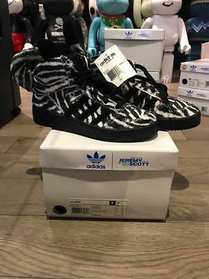 factory authentic 35aad b2972 New Adidas Jeremy Scott Zebra Shoes 100% Authentic Rare Limited 4, 4.5 Bae