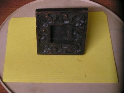 """Two's 2"""" X 2"""" Rustic Wooden Picture Frame - Table/Wall-Hangable - 5"""" X 5"""" Square"""