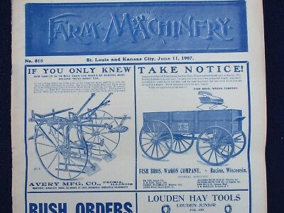 "1907 HUGE Farm Machinery,""LOTS OF PICTURES"",GRAPHICS,U.S.Companies NICE Magazine"
