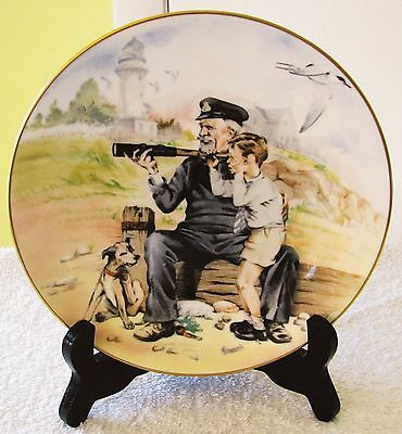 Crown Staffordshire Eng Greensmith Seaside Memories Ship Spotting Plaque PlateVG