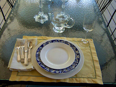 Retsch Fine Bone China Service 8 Chargers And Salad Plates Estate Set 16 Pcs