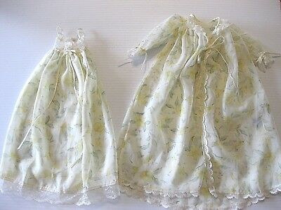 """Tonner 18"""" Kitty Collier Doll YELLOW FLORAL PEIGNOIR Outfit NIGHTGOWN & ROBE"""
