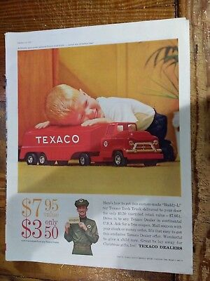 Buddy L Texaco Tank Truck Toy in 1959 Texaco Dealers Advertisement