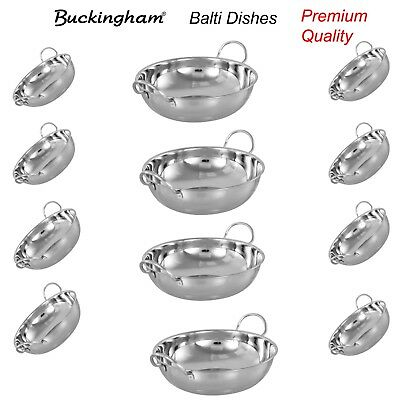 Buckingham Balti Dish Indian Curry Food Serving Stainless Steel Dishes 15 cm