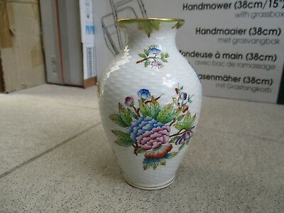 A Herend Porcelain Vase Decorated with Flowers and Butterflies