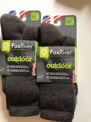 Lot Of 2 Fox River Outdoor Performance Hiking Socks Wool Large Women's 9-11  NEW