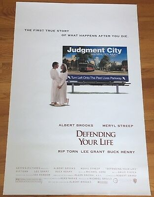 Albert Brooks DEFENDING YOUR LIFE 1991 Original SS 27x40 Rolled Movie Poster