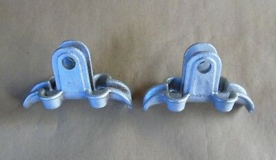 "Set of 2 Vintage Traffic Signal Light 5-3/4"" CROUSE HINDS Cable BRACKET"